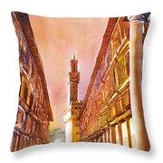 Uffizi- Florence Throw Pillow