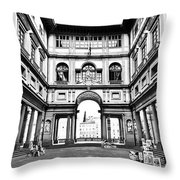 Uffizi Gallery In Florence Throw Pillow