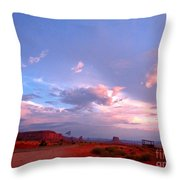 Ufo At Monument Valley Throw Pillow