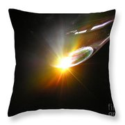 Ufo Banking For A Landing Throw Pillow