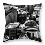 Ufo Parking Lot Throw Pillow
