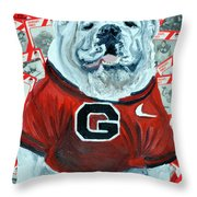 Uga Bulldog II Throw Pillow