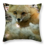 Uh Oh Thought The Fox Throw Pillow