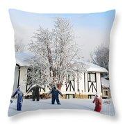 Uhaul Workers Throw Pillow