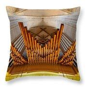 Ulm Pipe Organ Throw Pillow