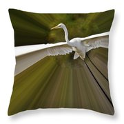 Ultimate Bender Egret Throw Pillow