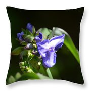 Ultra Violet Wildflower Throw Pillow