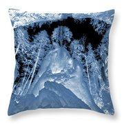 Ultraviolet Cave In Winter Throw Pillow
