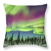 Ultrawide Aurora 4 - Feb 21, 2015 Throw Pillow