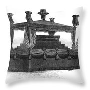 Ulysses Grant Funeral Throw Pillow