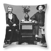 Ulysses S. Grant Visits China Throw Pillow