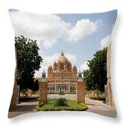 Umaid Bhawan Palace, India Throw Pillow