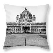 Umaid Bhawan Palace Monochrome Throw Pillow