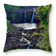 Umauma Falls I Throw Pillow
