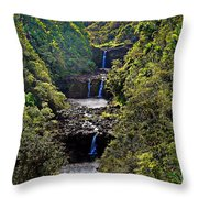 Umauma Falls II Throw Pillow