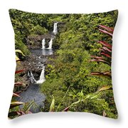 Umauma Falls Throw Pillow