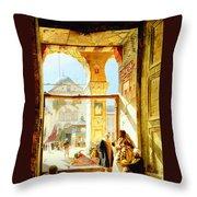 Umayyad Mosque Throw Pillow