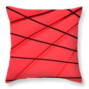 Red And Black Abstract Throw Pillow by Tony Grider