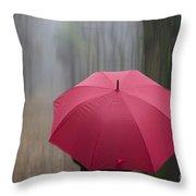 Umbrella And Blur Throw Pillow