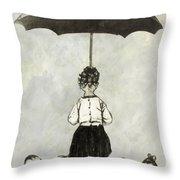 Umbrella Children Throw Pillow