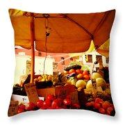 Umbrella Fruitstand - Autumn Bounty Throw Pillow