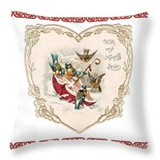 Umbrella In The Snow  Throw Pillow
