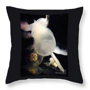 Umbrella Jellyfish 1 Shot At Long Beach California Aquarium By Richard W Linford Throw Pillow
