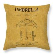 Umbrella Patent 1 Throw Pillow