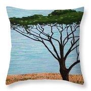 Umbrella Tree Throw Pillow