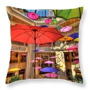 Umbrellas At Palazzo Shops Throw Pillow