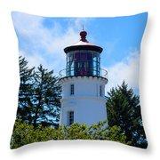 Umpqua River Lighthouse Throw Pillow