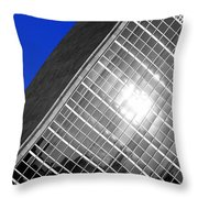 Un Building Tilted Throw Pillow