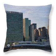 Un Buildings - Riverside Throw Pillow