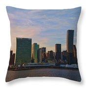 Un Sunset Throw Pillow