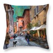 Una Notta A Roma Throw Pillow