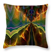 Unbalanced Mind Throw Pillow