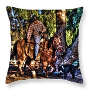 Unbridled Throw Pillow