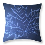 Uncertaintys Leaf Throw Pillow by Jason Padgett