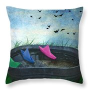 Uncharted Waters Throw Pillow