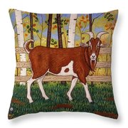 Uncle Billy's Goat Throw Pillow