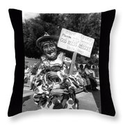 Uncle Harry Clown Drive Carefully  God Bless America Sign Tucson Arizona 1991 Throw Pillow