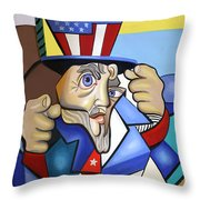 Uncle Sam 2001 Throw Pillow