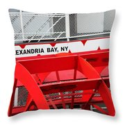 Uncle Sam Bout Tour Alexandria Bay Throw Pillow