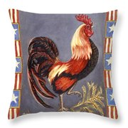 Uncle Sam The Rooster Throw Pillow
