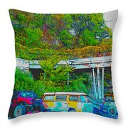 Uncle Tom's Toybox Throw Pillow