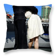 Unconditional Surrender Kiss Throw Pillow