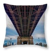 Under 59th Street Bridge Throw Pillow