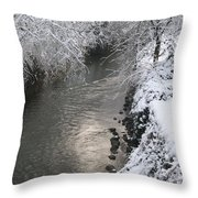 Under A Blanket Of Snow Throw Pillow