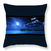 Under A Silvery Moon...artistic Effect Throw Pillow