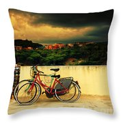 Under An Ominous Sky Throw Pillow